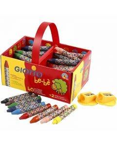 Wax Crayons, L: 7 cm, D: 11 mm, 40 pc/ 1 pack