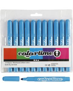 Colortime Marker, line 5 mm, light blue, 12 pc/ 1 pack