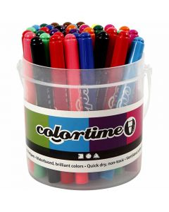 Colortime Marker, line 5 mm, assorted colours, 42 pc/ 1 pack