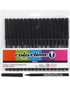 Colortime Marker, line 2 mm, black, 18 pc/ 1 pack