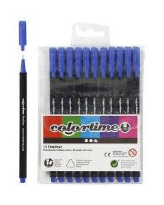 Colortime Fineliner, line 0,6-0,7 mm, dark blue, 12 pc/ 1 pack