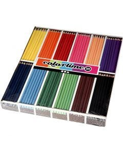 Colortime colouring pencils, L: 17,45 cm, lead 3 mm, assorted colours, 12x12 pc/ 1 pack