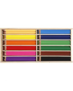 Colouring Pencils, lead 3 mm, assorted colours, 144 pc/ 1 pack