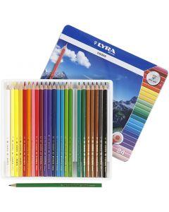 Osiris colouring pencils, L: 18 cm, lead 3 mm, assorted colours, 24 pc/ 1 pack