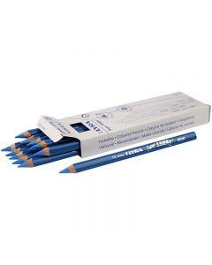 Super Ferby 1 colouring pencils, L: 18 cm, lead 6.25 mm, blue, 12 pc/ 1 pack