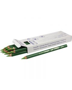 Super Ferby 1 colouring pencils, L: 18 cm, lead 6.25 mm, light green, 12 pc/ 1 pack