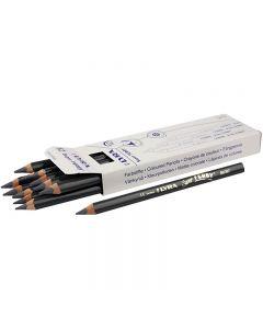 Super Ferby 1 colouring pencils, L: 18 cm, lead 6.25 mm, grey, 12 pc/ 1 pack