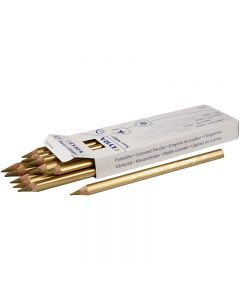 Super Ferby 1 colouring pencils, L: 18 cm, lead 6.25 mm, gold, 12 pc/ 1 pack