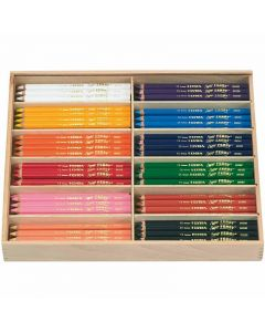Super Ferby 1 colouring pencils, L: 18 cm, lead 3 mm, assorted colours, 144 pc/ 1 pack