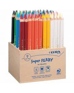Super Ferby 1 colouring pencils, L: 18 cm, lead 3 mm, assorted colours, 96 pc/ 1 pack