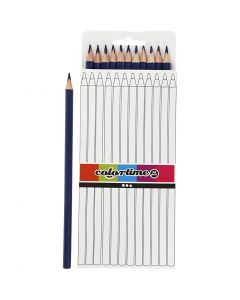 Colortime colouring pencils, L: 17 cm, lead 3 mm, dark blue, 12 pc/ 1 pack