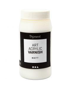 Art Acrylic Varnish, matt, matt transparent, white, 500 ml/ 1 tub