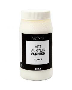 Art Acrylic Varnish, Gloss transparent, white, 500 ml/ 1 tub