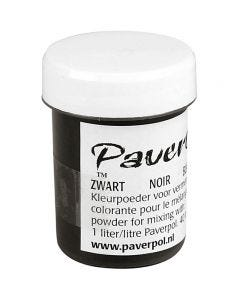 Pavercolor, black, 40 ml/ 1 tub