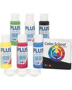 Plus Color Craft Paint, primary colours, 6x60 ml/ 1 pack