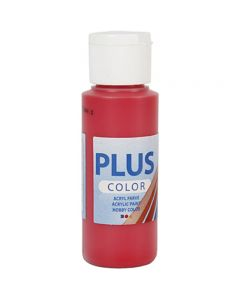 Plus Color Craft Paint, berry red, 60 ml/ 1 bottle
