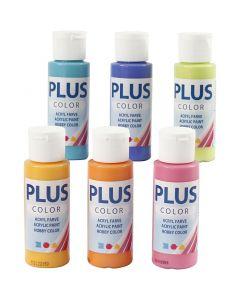 Plus Color Craft Paint, colorful, 6x60 ml/ 1 pack