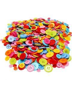 Button Mix, D: 10+15+20+22 mm, 500 g/ 1 pack