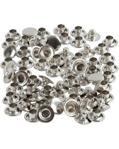 Rivets, D: 7 mm, silver, 50 pc/ 1 pack