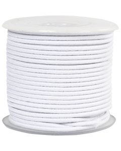 Elastic Beading Cord, thickness 2 mm, white, 25 m/ 1 roll