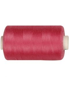 Sewing Thread, L: 1000 yards, pink, 915 m/ 1 roll