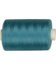 Sewing Thread, L: 1000 yards, petrol, 915 m/ 1 roll