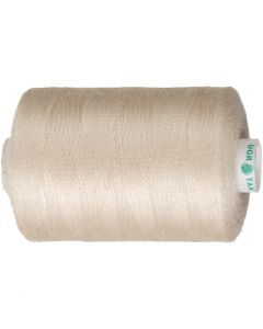 Sewing Thread, L: 1000 yards, beige, 915 m/ 1 roll
