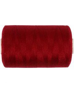 Sewing Thread, L: 1000 yards, claret, 915 m/ 1 roll