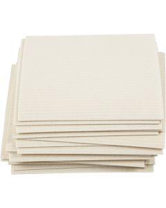 Sponge Cloth, size 17x19,5 cm, off-white, 20 pc/ 1 pack