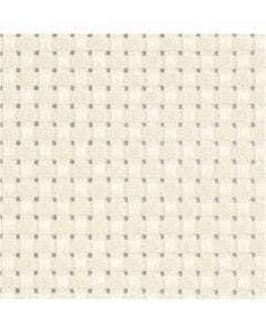 Aida Fabric, size 50x50 cm, 35 squares per 10cm , off-white, 1 pc
