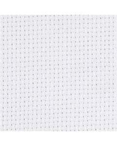Aida Fabric, size 50x50 cm, 70 squares per 10cm , white, 1 pc