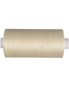 Sewing Thread, off-white, 1000 m/ 1 roll