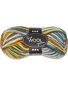 Sock Yarn, L: 200 m, moss green, 50 g/ 1 ball