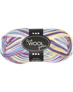 Sock Yarn, L: 200 m, off-white, 50 g/ 1 ball