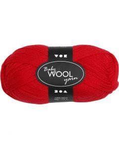 Baby Yarn, L: 172 m, red, 50 g/ 1 ball