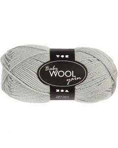 Baby Yarn, L: 172 m, light grey, 50 g/ 1 ball