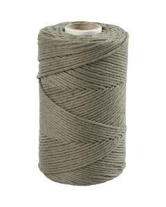 Macramé cord, L: 198 m, D: 2 mm, moss green, 330 g/ 1 roll