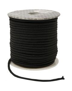 Polyester Cord, thickness 4 mm, black, 40 m/ 1 roll
