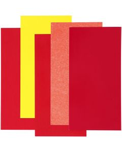 Color Dekor, red/orange/yellow, 5 ass sheets/1 pack
