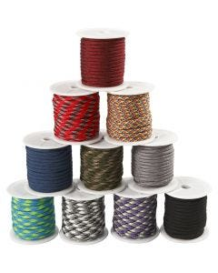 Polyester Cord, W: 5 mm, 10x10 m/ 1 pack