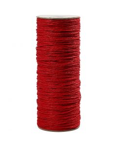 Paper Yarn, thickness 1,8 mm, red, 470 m/ 1 roll