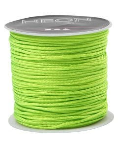 Polyester Cord, thickness 1 mm, neon green, 28 m/ 1 roll
