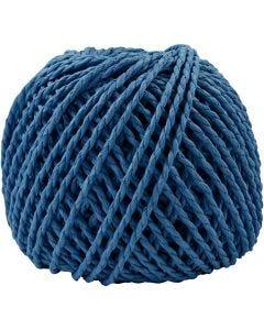 Paper Yarn, thickness 2,5-3 mm, dark blue, 40 m/ 1 ball