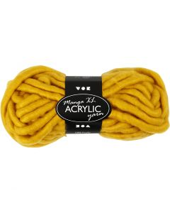 Chunky yarn of acrylic, L: 17 m, size manga , dark yellow, 200 g/ 1 ball