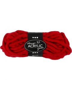 Chunky yarn of acrylic, L: 17 m, size manga , dark red, 200 g/ 1 ball