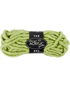 Chunky yarn of acrylic, L: 17 m, size manga , lime green, 200 g/ 1 ball