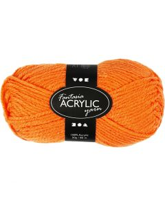 Fantasia Acrylic Yarn, L: 80 m, neon orange, 50 g/ 1 ball