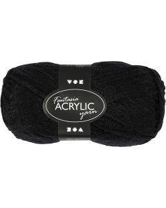 Fantasia Acrylic Yarn, L: 80 m, black, 50 g/ 1 ball
