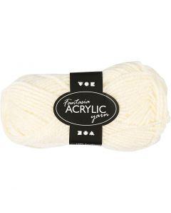 Fantasia Acrylic Yarn, L: 80 m, off-white, 50 g/ 1 ball