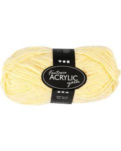 Fantasia Acrylic Yarn, L: 80 m, light yellow, 50 g/ 1 ball